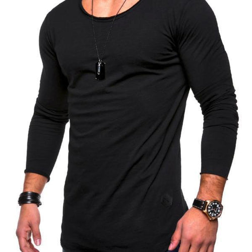 New Autumn Men's Long-Sleeved Round Neck Blouse