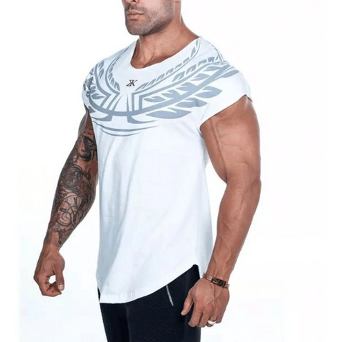 Breathable Cotton Training Short Sleeve Sports Fitness Men's T-Shirt