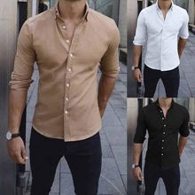 Load image into Gallery viewer, Men's Elegant Long Sleeve Plain T-Shirts