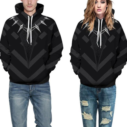 Hooded  Drawstring  Abstract Print Hoodies