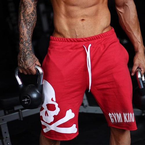 2019 New Fashion Skull Fitness Loose Shorts