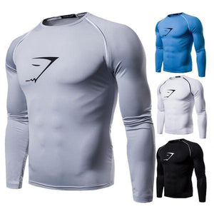 Men's Fitness Quick-Drying Tight Long-Sleeved T-Shirt