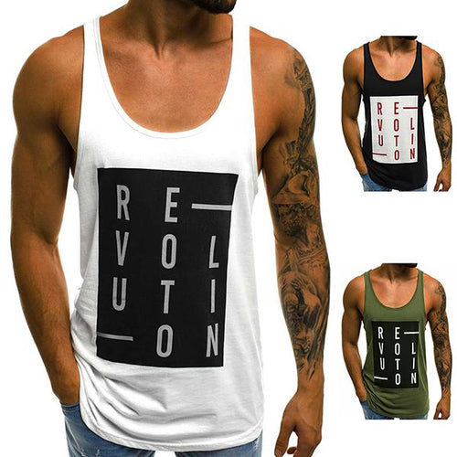 Fashion Fitness Box Cotton Short-Sleeved Tank