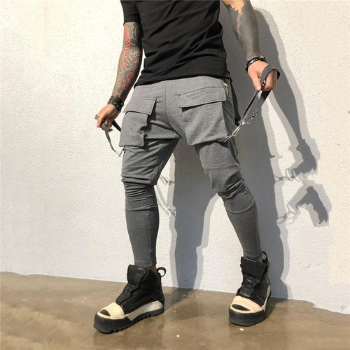 Fashion Front And Back Pockets Casual Jogger Pants