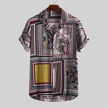 Load image into Gallery viewer, Fashion Casual Men's Short-Sleeved Printed Shirts