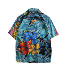 Load image into Gallery viewer, Men's Lapel Single-Breasted Short-Sleeved Printed Casual Shirts