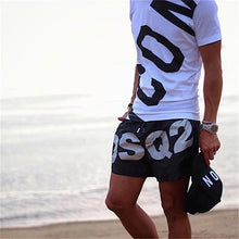 Load image into Gallery viewer, Men's Elastic Waist Letter Printed Casual Shorts