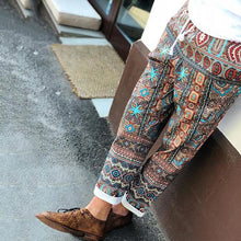 Load image into Gallery viewer, Men's National Style Printing Elastic Waist Casual Pants
