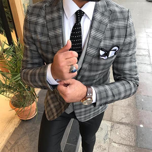 Casual Men's Lapel Single Row Buckle Long-Sleeved Suit Outerwear