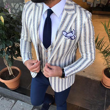 Load image into Gallery viewer, Men's Lapel Long-Sleeved Striped Suit Outerwear