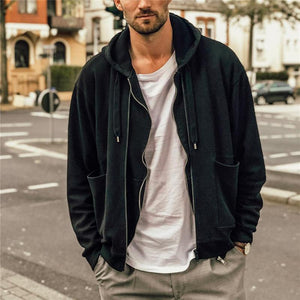 Men's Casual Loose Hooded Jacket