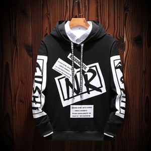 Men's Loose Printed Hooded Sweatshirts