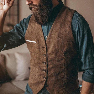Simple Solid Color Pocket Vest