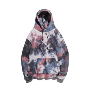 Street Punk Tie-Dyed Loose Hooded Sweatshirt