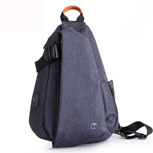 Men's sports waterproof Oxford cloth shoulder bag