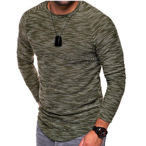 Round neck slim short-sleeved men's T-shirt