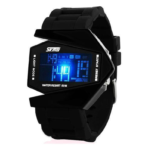 Fashion Mens Hot Aircraft Personality Creative Led Watch