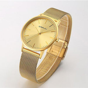 Casual Business ultra thin men   watches steel mesh belt watches