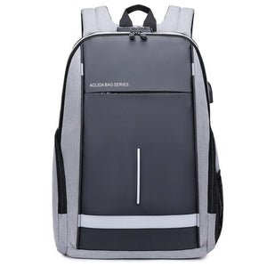 Oxford cloth USB charging password anti-theft backpack