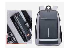 Load image into Gallery viewer, Oxford cloth USB charging password anti-theft backpack