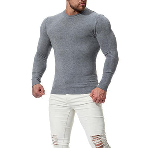 Long-Sleeved Knit Bottoming Shirt