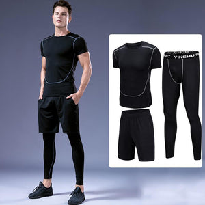 Casual Fitness Wear Quick-Drying Running Training Sports Men's Suit