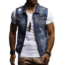 Load image into Gallery viewer, Men's Plus Size Washed Hole Cowboy Vest
