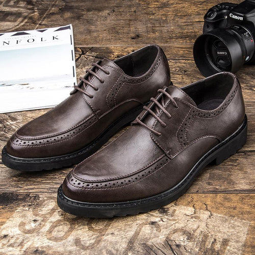 Casual Fashion Business men's   shoes brock patent leather shoes