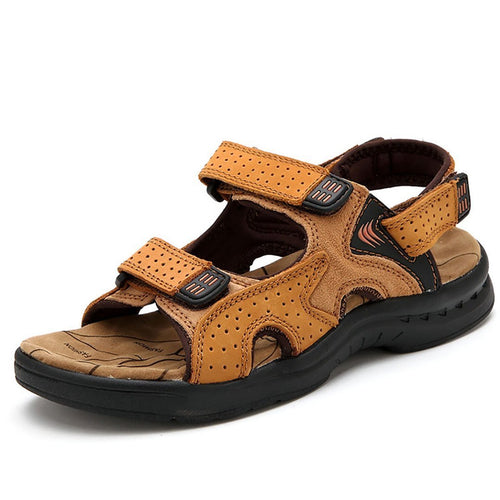 Men's leather outdoor recreational beach sandals