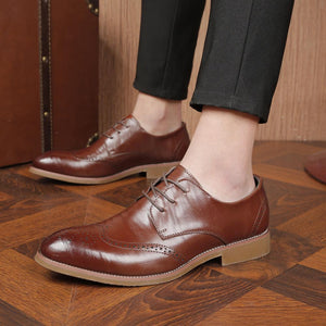 Casual Bloch pointed business   leather shoes