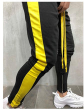 Load image into Gallery viewer, Colorblock Foot Zipper Stitching Sweatpants