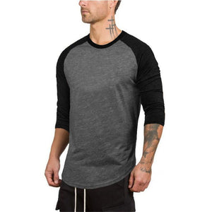 Men's Arc Hem Round Neck Slim T-Shirt