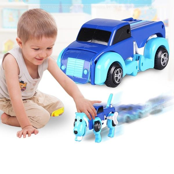 【Hot Sale Now】 Dog Transformer Wind-Up Toy Truck- Buy Two, Free Shipping!