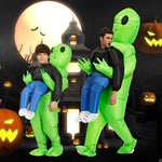 【Hot Sale Now】Green Alien Carrying Human Costume -Buy Two, Free Shipping!