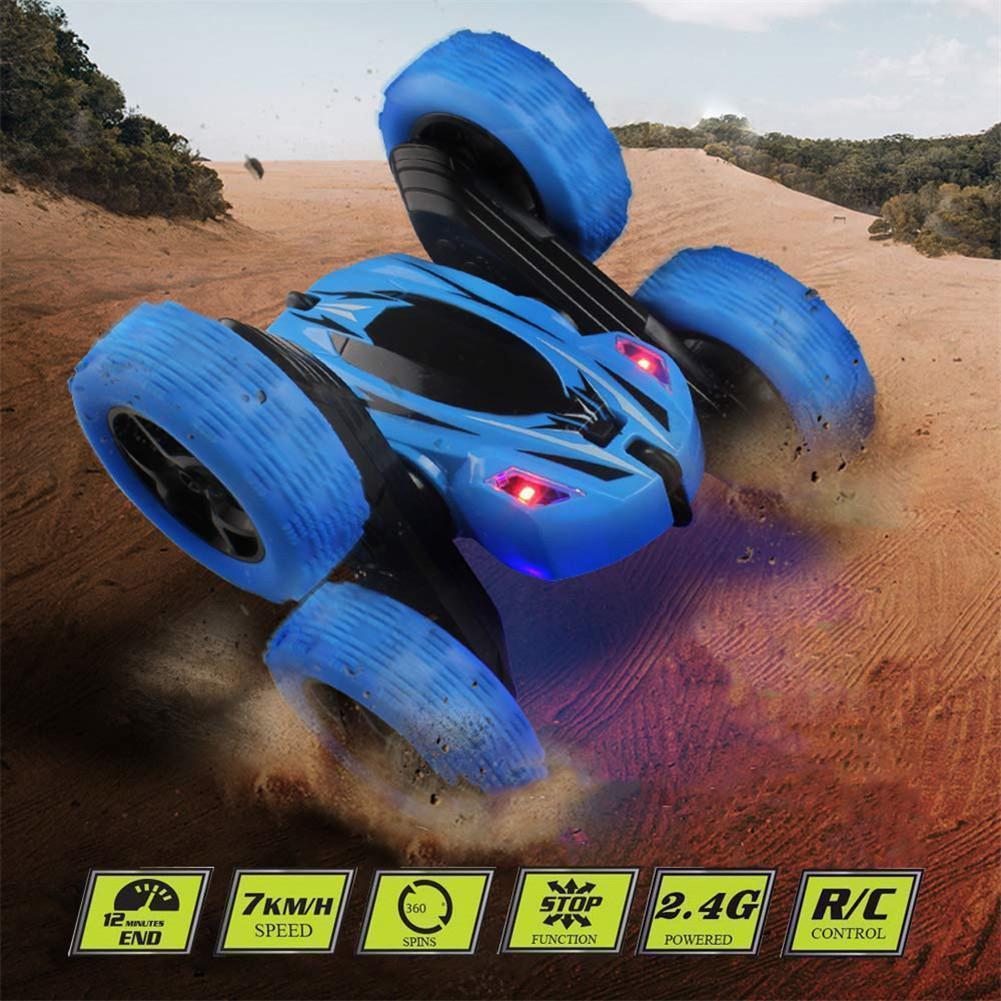 【Hot Sale Now】360 Degrees Rotating Double Sided RC Stunt Car with Light|Toy for Kids RC Cars(Free Shipping)