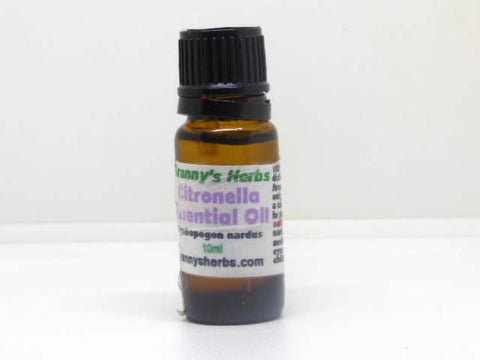 Citronella Essential Oil 10 ml, Therapeutic Grade
