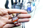 Aromatherapy Ornament Bottle Necklace - Gold/Black