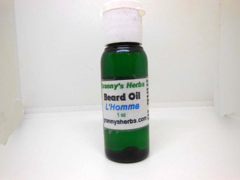 L Homma Beard and Hair Oil 1oz