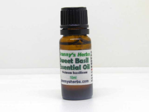 Basil (Sweet) Essential Oil 10 ml, Therapeutic Grade