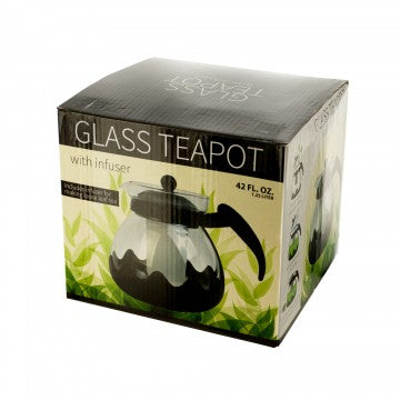 42 oz. Glass Teapot with Infuser with FREE Chamomint Tea