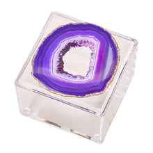 Load image into Gallery viewer, Acrylic Box with Agate
