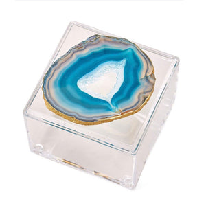 Acrylic Box with Agate