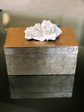 Load image into Gallery viewer, Gold Geode Adorned Box