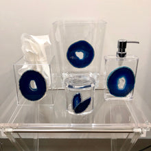 Load image into Gallery viewer, Lucite & Agate Trash Can