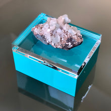 Load image into Gallery viewer, Turquoise Lucite & Geode Box