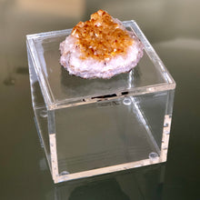 Load image into Gallery viewer, Citrine Geode Lucite Box