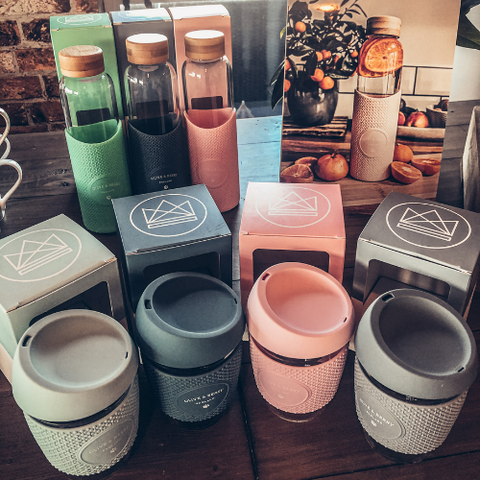 Coffee Cups and Water Bottles