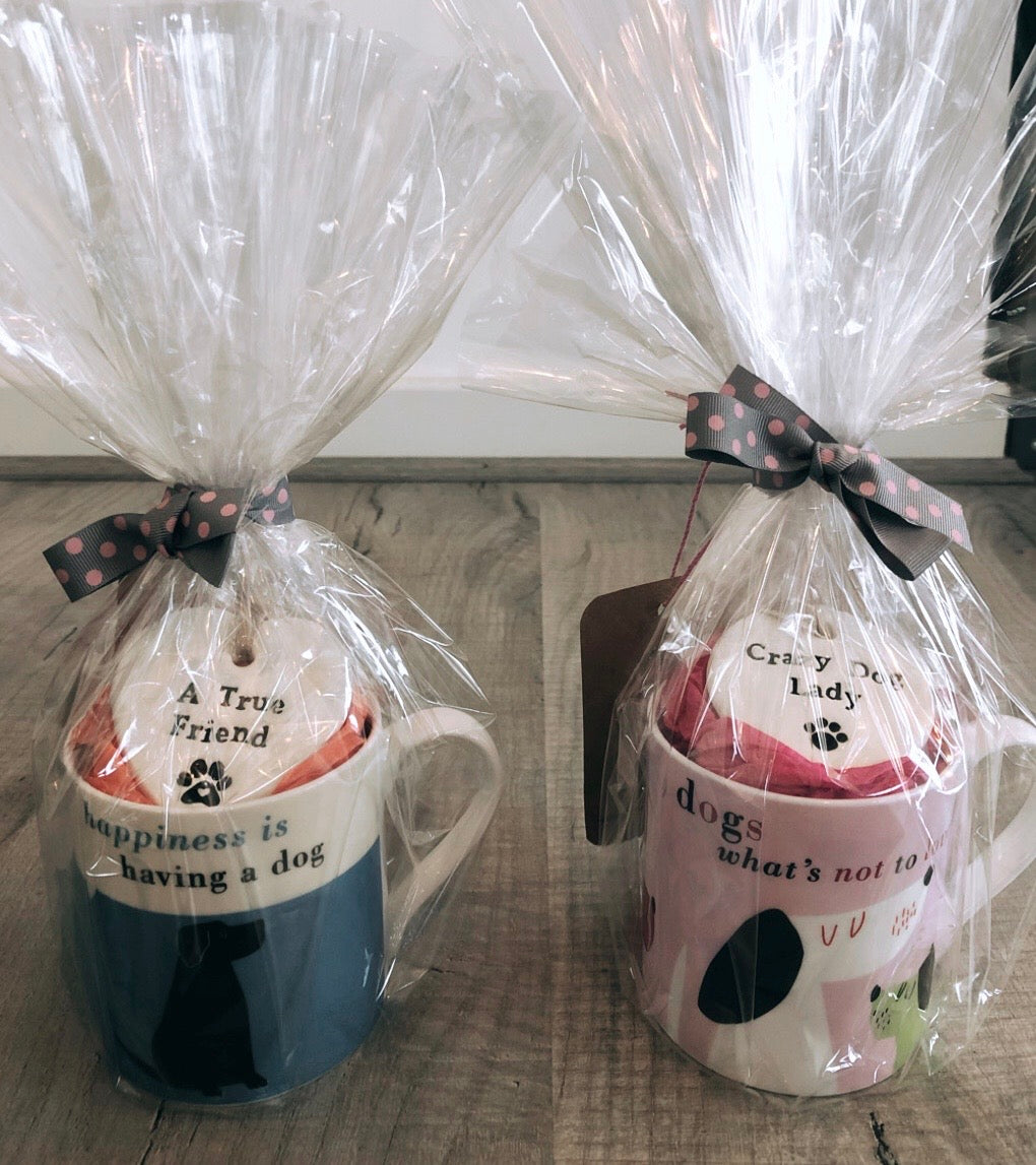 Mug & Ceramic Slogan Tag Gift Set