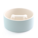 Soothing Blue Slow Feed Dog Dining Bowl