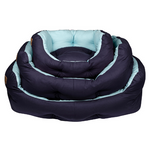 Snug Blue Slogan Dog Bed